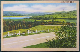 Tichnor Bros. White border, Linen Postcard, Momauguin, CT Ro - $7.00