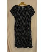 Black with White Polka Dot vintage Dress-4  - $10.00