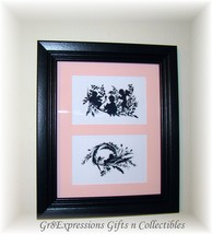 ~Sweet Shabby Cherubs Double Silhouette 8x10 Picture ~New~ - $18.95