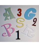 10 inch PAINTED Wood Wooden Letters  or Numbers-Wood Cutout CUSTOM SIZES - $7.25