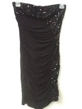 Forever 21 BLACK Sparkling Sequins SEXY Bodycon Strapless Mini Dress Siz... - $8.95