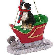 Conversation Concepts Australian Shepherd Tricolor Sleigh Ride Ornament - $17.99