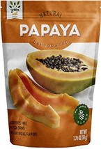 GREEN SOIL FOODS, 100% Dried Natural, Papaya, 3 pack 1.76 oz each