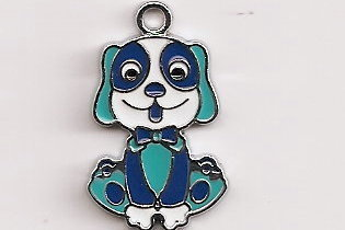 Primary image for DOG Tibetan Silver Pendant Blue .27 X .17 MM