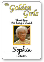SOPHIA PETRILLO THE GOLDEN GIRLS HALLOWEEN COSPLAY PROP NAME BADGE MAGNE... - $14.84
