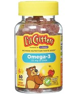L'il Critters Omega-3 DHA, 60 Count Gummies Lil Critters - $7.95