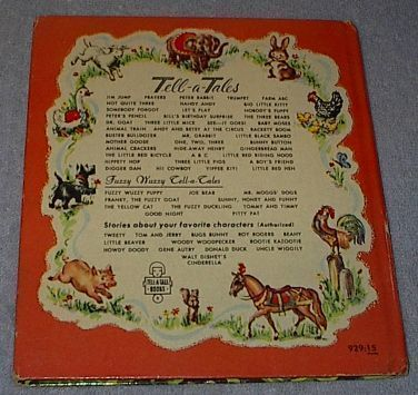 Old Children's Tell A Tale Book Peter Rabbit 1953