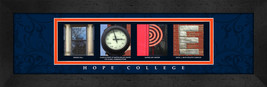 Hope College Officially Licensed Framed Campus Letter Art - $39.95