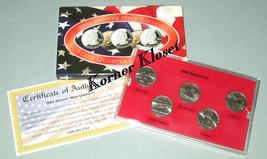 2001 Denver Mint Edition State Quarter Collection - NY, RI, VT, NC, KY - $12.55
