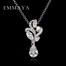 Emmaya 2017 Spring Necklace Pendant Women AAA Zircon Crystal Necklaces W... - $10.19