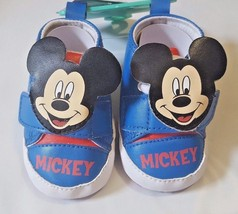 NEW NWT Disney Mickey Mouse Crib Shoes Size 0/6 Months Boys Girls - $5.99