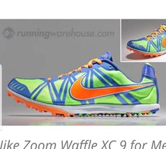 Men's Nike Zoom Waffle XC Racing Shoes With Spikes Size 12.5 cross count... - $13.99