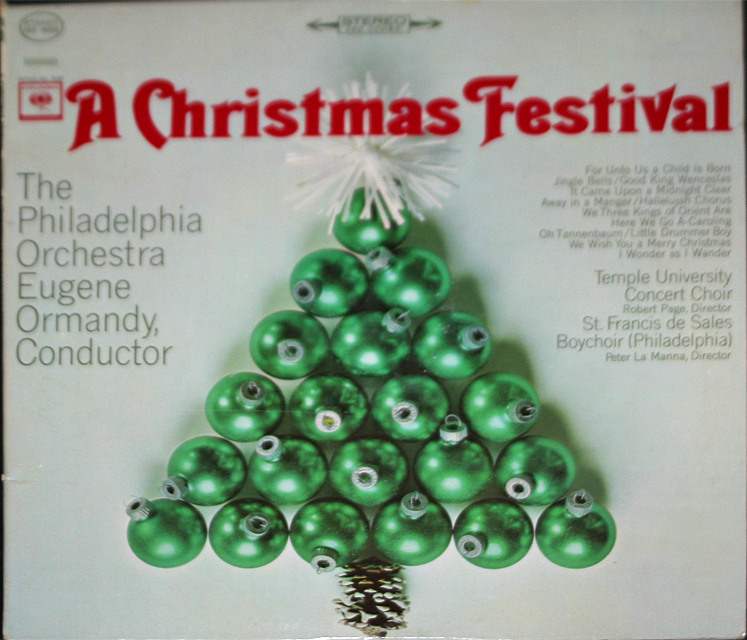 A Christmas Festival by the Phiadelphia Orch. & Eugene Orman    LP