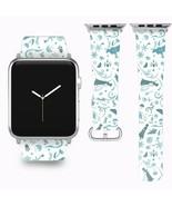 Frozen II 2 Disney Apple Watch Band 38 40 42 44 mm Fabric Leather Strap 01 - $24.97