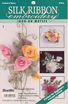 Beautiful Festival of Roses~Silk Embroidery - $3.50