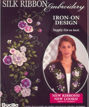Silk Ribbon Embroidery.....Garden of Memories - $3.50