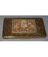 Ladies Evans Cigarette Holder Case Oriental decoration Gold Tone - $35.00