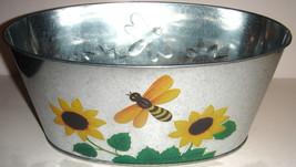 Oval Galvanized Tin Honey Bee Planter - $5.00