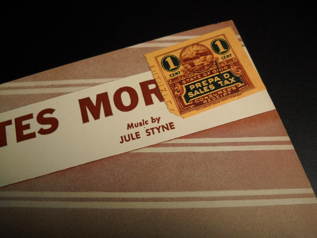 Sheet Music Five Minutes More Sammy Cahn Jule Styne 1946 Tex Beneke Glenn Miller