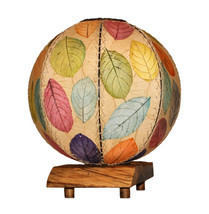 Eangee Home Design Fossilized Jackfruit Leaf Driftwood Orb Multicolor Ta... - €199,79 EUR