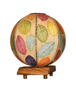 Eangee Home Design Fossilized Jackfruit Leaf Driftwood Orb Multicolor Ta... - £171.05 GBP