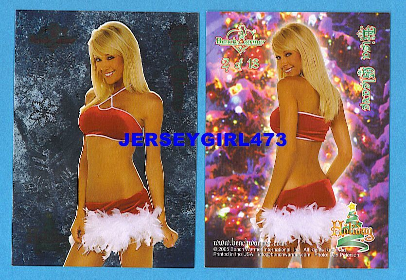 Sexy Lisa Gleave 2005 Bench Warmer Series 1 Holiday Foil Insert Card #2