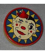 Vintage Kirchhhof Round Clown Tin Wood Handle Noise Maker - $12.00