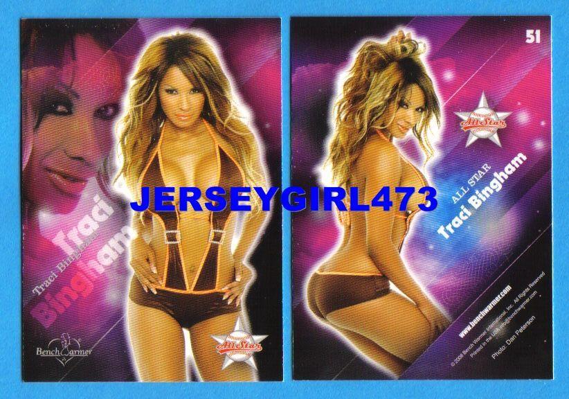 Sexy Traci Bingham 2008 Bench Warmer Limited All Star Card #51