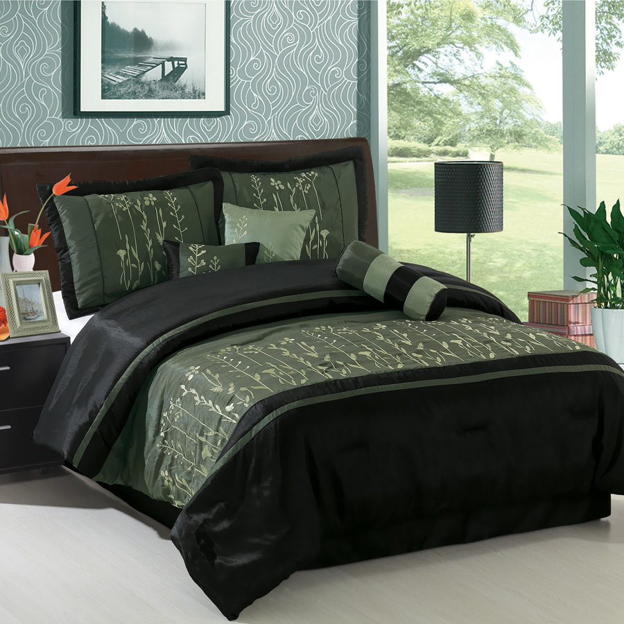 Clearance Bedroom Sets: Clearance Luxury Petersburg 7pc Comforter Bedding Set