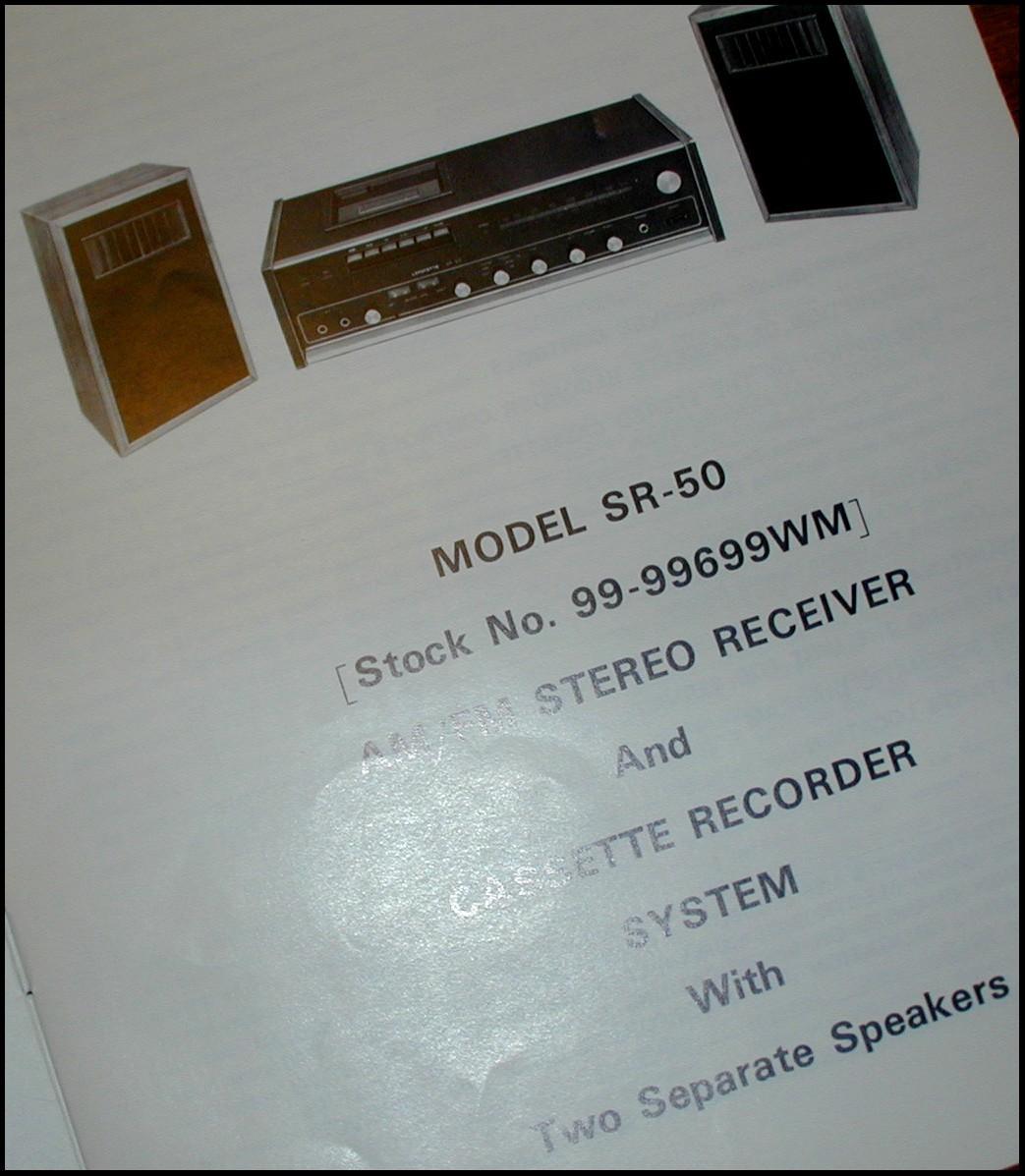 Lafayette SR-50 AM/FM Stereo RECEIVER Cassette Recorder Service Manual SCHEMATIC