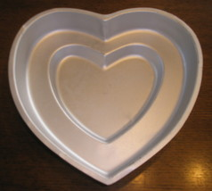 Wilton Cake Pan Double Tier Heart - $5.99