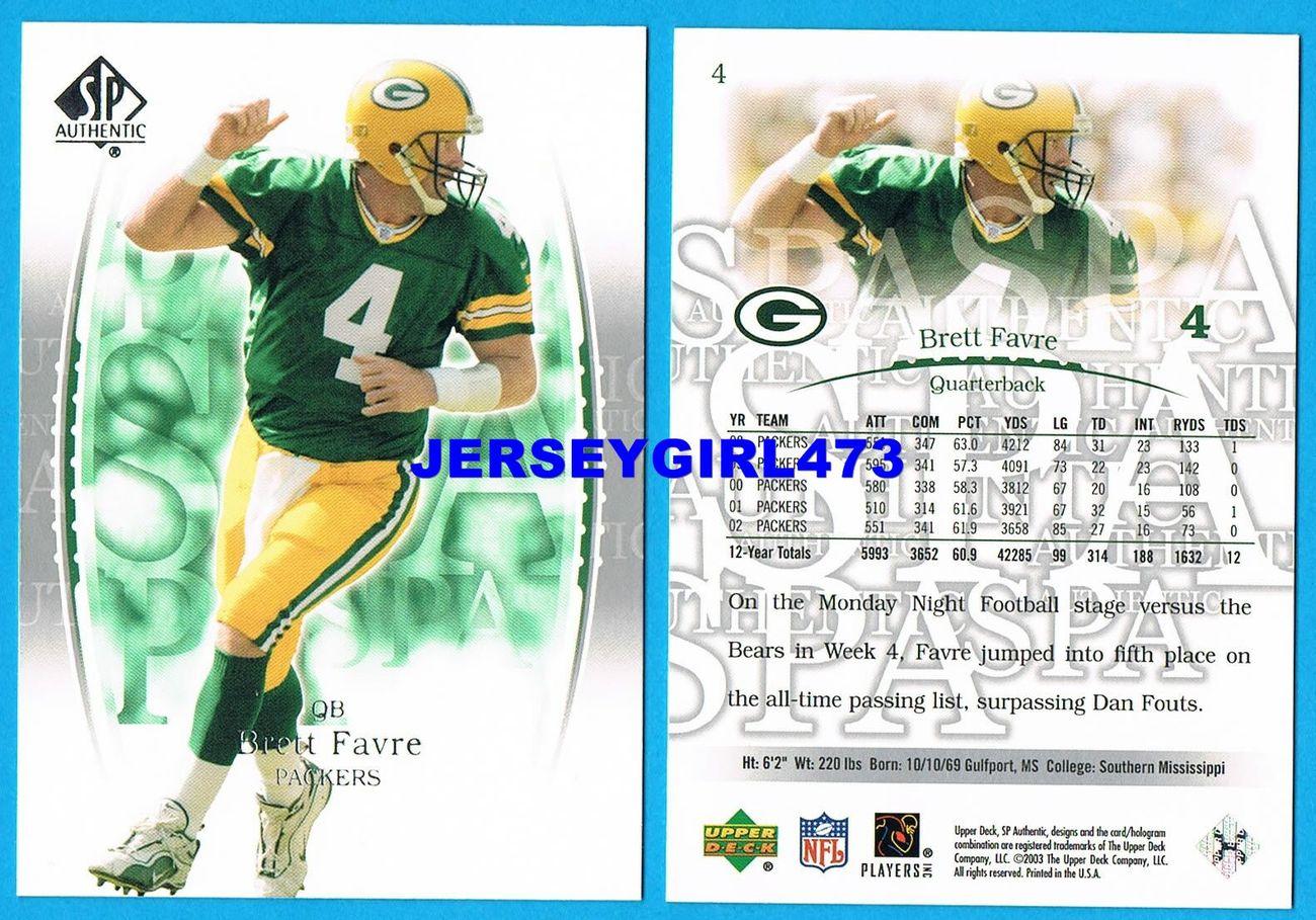 Brett Favre 2003 Upper Deck SP Authentic Green Bay Packers Football Card #4
