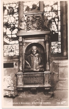 "Early M.C. RPPC ""Shakespeare's Monument, Stratford Church""! Postally Unu... - $8.00"
