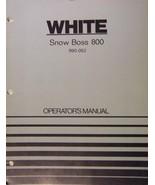 White Snow Boss 800 Walk-Behind Snow Thrower Operator's Manual - Model 9... - $14.00