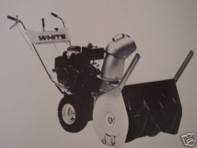 White Snow Boss 800 Walk-Behind Snow Thrower Operator's Manual - Model 990-062