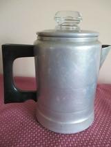 VTG SEARS MAID OF HONOR ALUMINUM PERCOLATOR COFFEE POT 1-2 CUP, STOVE CA... - $12.86