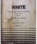 White T-800 Yard Boss Grass Pack Mower/Bagger Combo - Operator/Parts Manual - $10.00