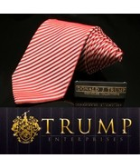 DONALD J. TRUMP~ SIGNATURE COLLECTION Red Stripe Candy cane Luxury Long - $96.60