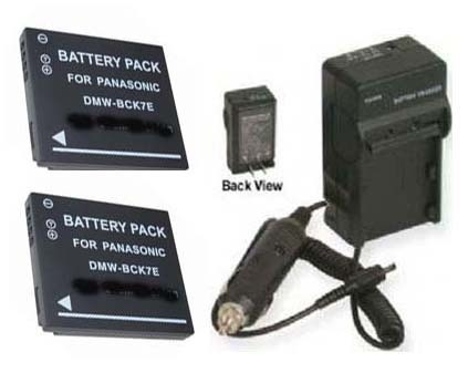 TWO 2 Batteries + Charger for Panasonic DMC-FH27 DMC-FH25R DMC-FH7P DMC-FH25S