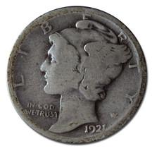 1921 Mercury Silver Dime 10¢ Coin Lot MZ 3158