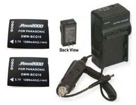 2 Batteries + Charger Panasonic DMW-BCG10PP DMWBCG10PP - $49.44