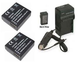 Two 2 X Dmw Ble9 E Batteries + Charger For Panasonic Dmcgf3 R Dmc Gf3 Xt Dmc Gf3 Xr - $25.87