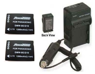 2 Batteries +Charger for Panasonic DMC-TZ6 DMC-TZ6S DMC-TZ6K DMC-TZ7 DMC-TZ6EB-K