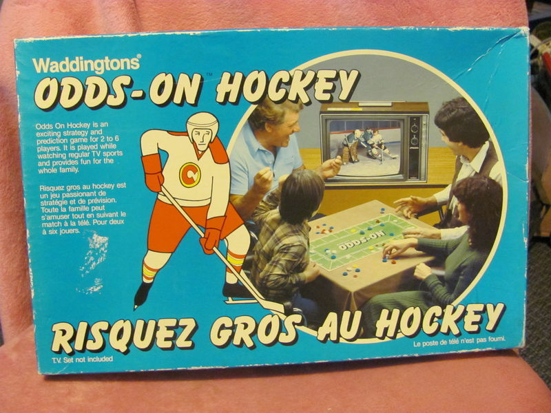 Vintage ODDS-ON HOCKEY Waddingtons Predict the Plays Complete