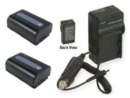 2 Batteries +Charger for Sony HDR-CX700 HDR-CX700V HDR-CX360 HXR-NX3D1E DCR-SX45