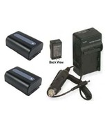 2 Batteries +Charger for Sony HDR-CX700 HDR-CX700V HDR-CX360 HXR-NX3D1E ... - $58.46