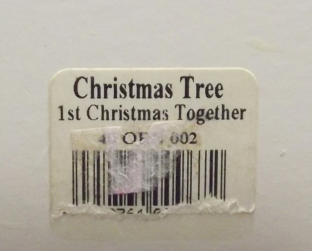 Spode Christmas Tree 1st Christmas Together porcelain bell ornament 1998