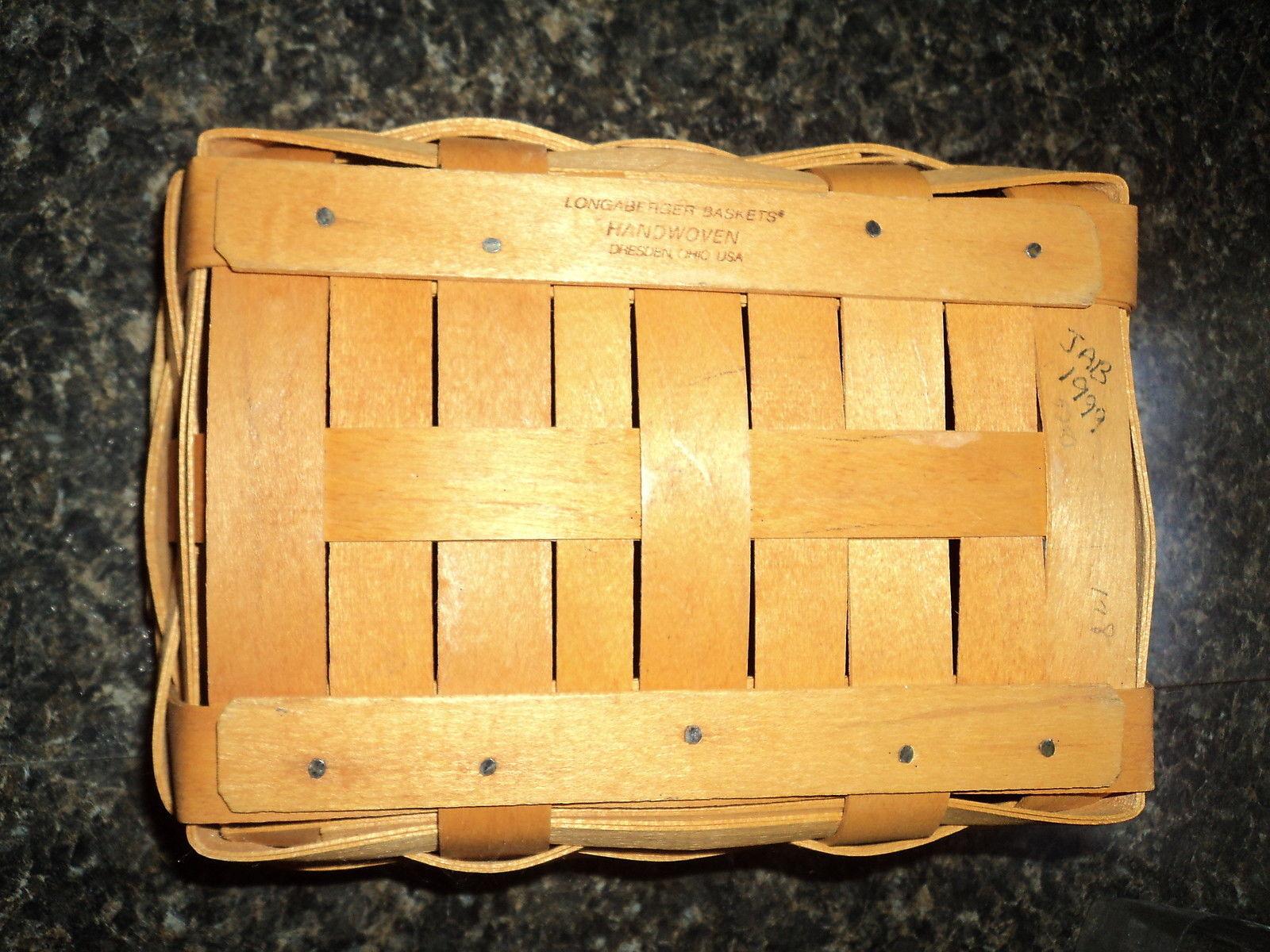 1999 Longaberger Start Success Notepad Basket with Protector