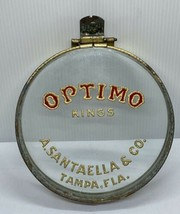 Antique Cigar Store Glass Can Lid Humidor Optimo Kings Tampa FL A.Santae... - $91.92