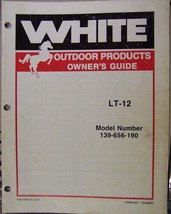 White LT-12 Lawn Tractor Operator's/Parts Manual - $14.00